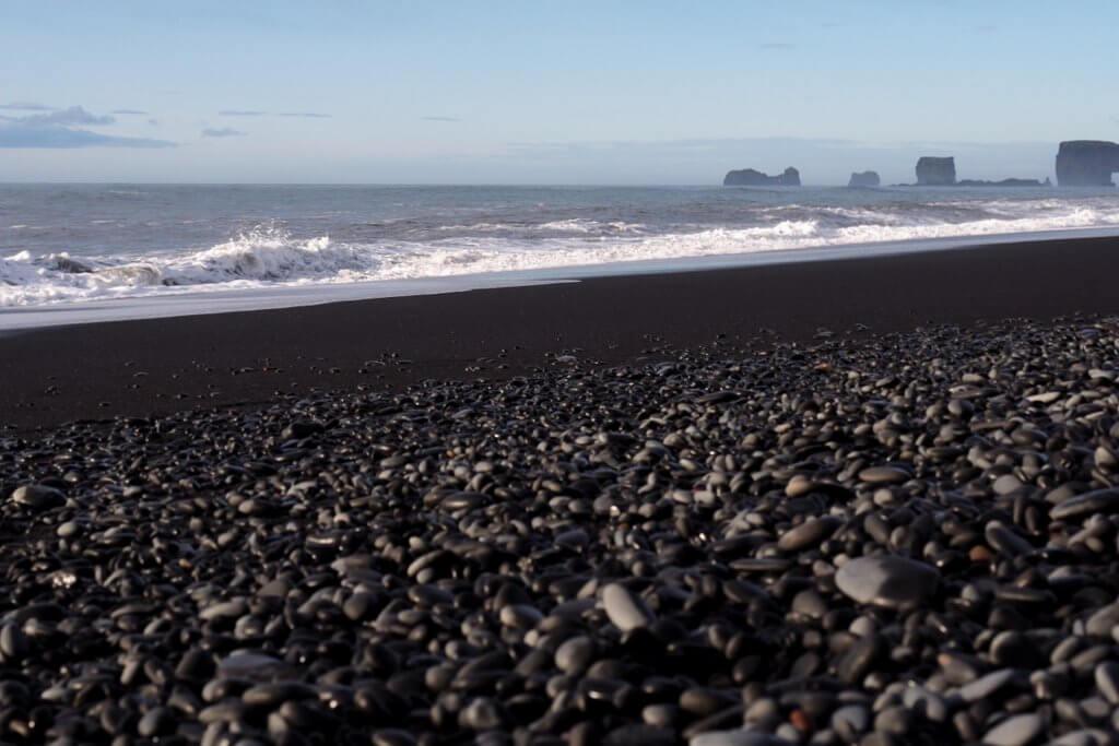 Island schwarzer Strand Vik