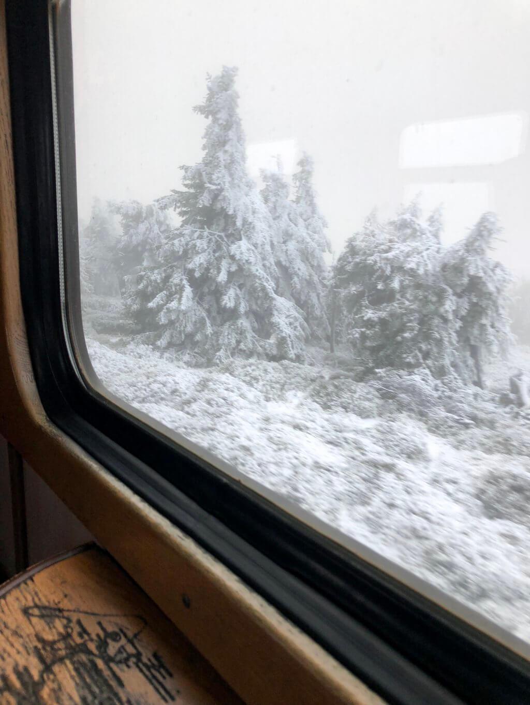 Fahrt mit der Brockenbahn Nebensaison
