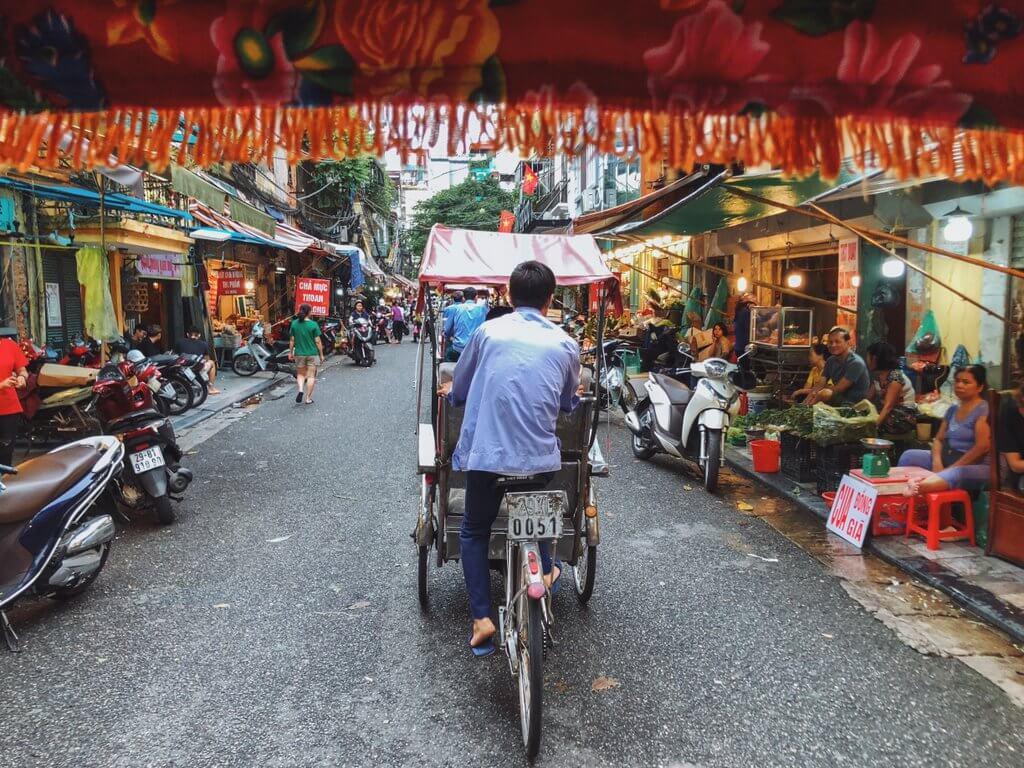 Altstadt Hanoi Rikscha Tour