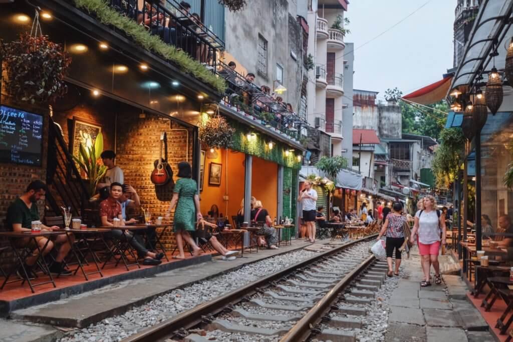 Hanoi Train Street geschlossen