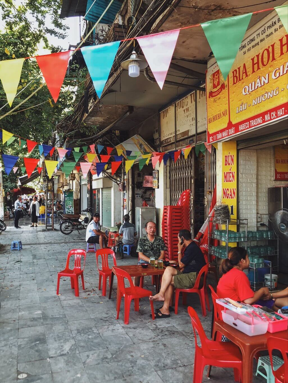 Hanoi Vietnam Strassenrestaurant