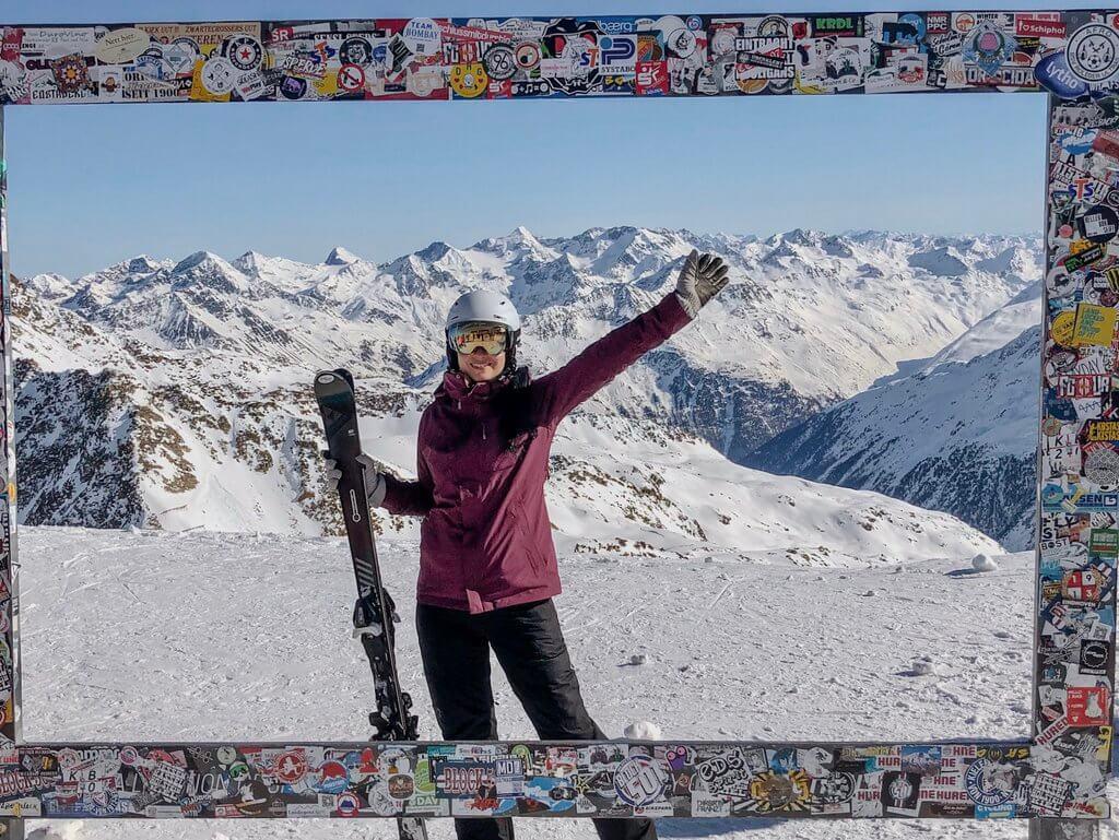 Skifahren auf ueber 3000 m Soelden