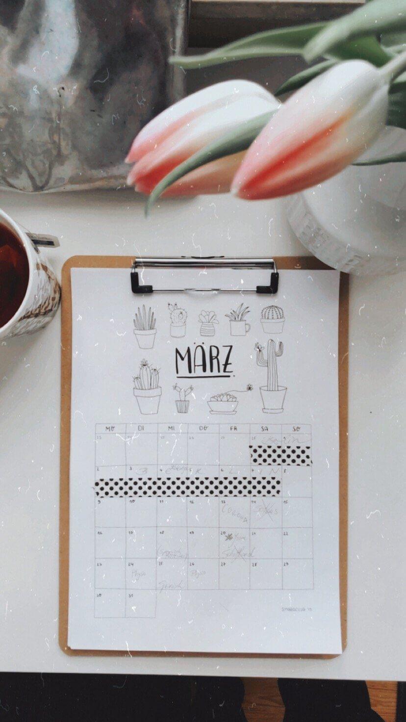 Home Office Tischkalender Smaracuja