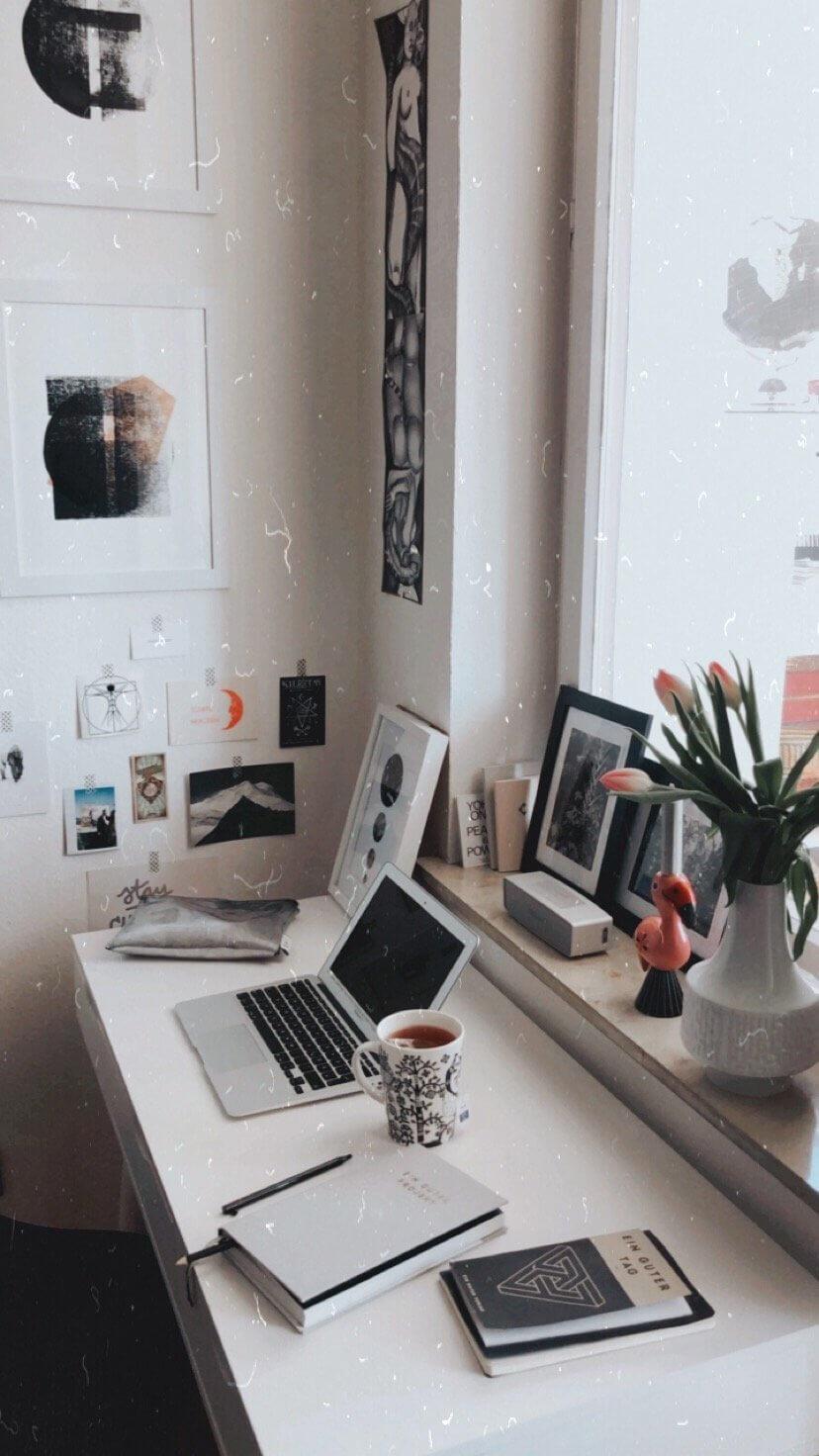 Schreibtisch Blogger