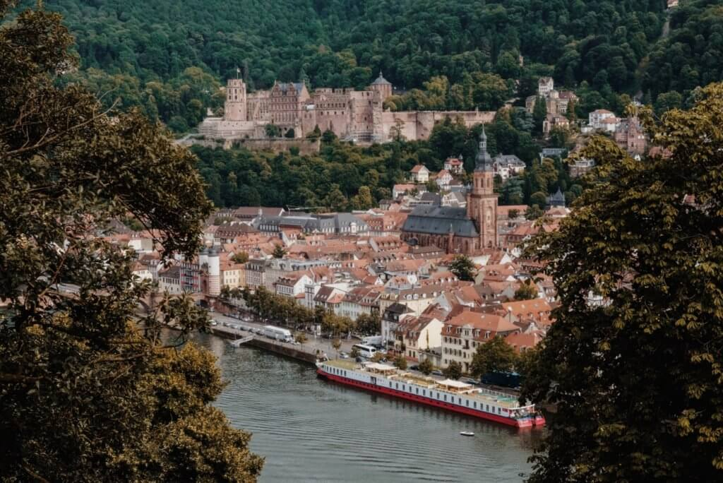 Heidelberg Altstadt Blick vom Philosophenweg