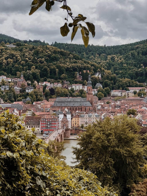 Heidelberg Geheimtipp Blick vom Schlangenweg