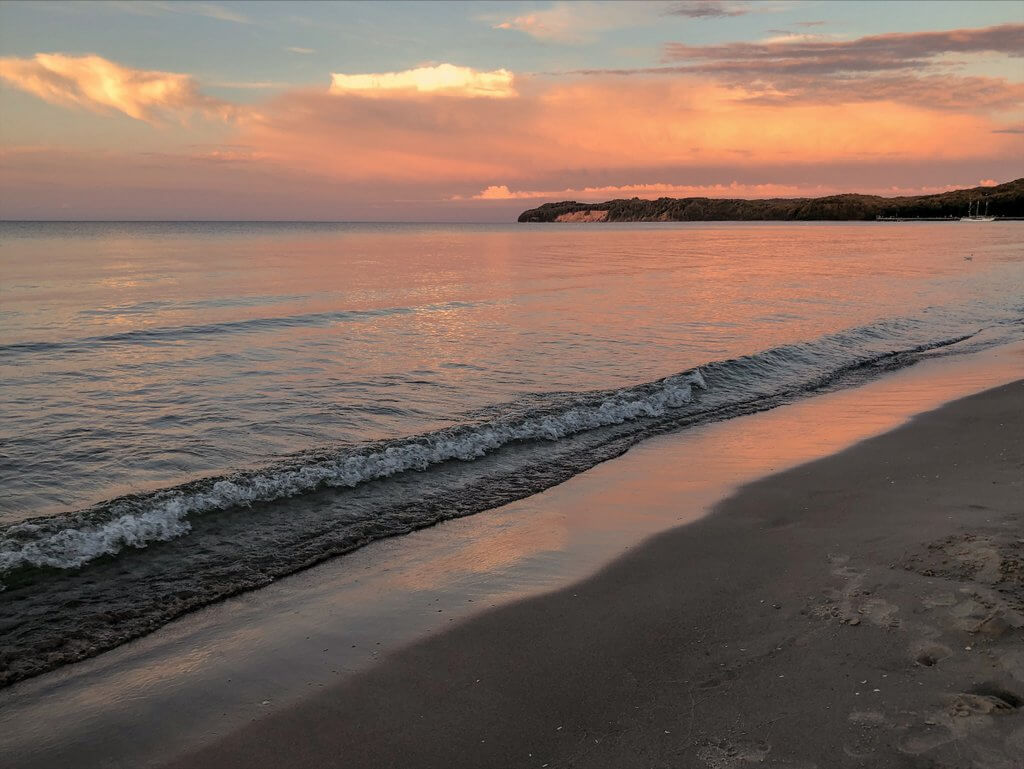 Binz Rügen Strand Sonnenuntergang