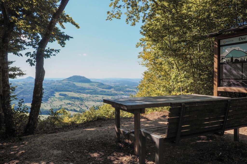 Dreikaiserberge Blick Aussichtspunkt Bank