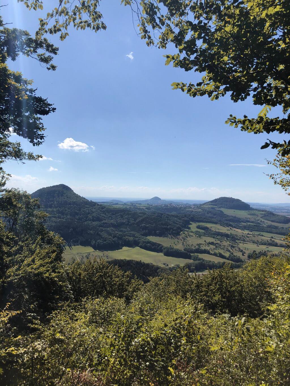 Dreikaiserberge-Blick Schwäbisch Gmünd wandern Ostalb