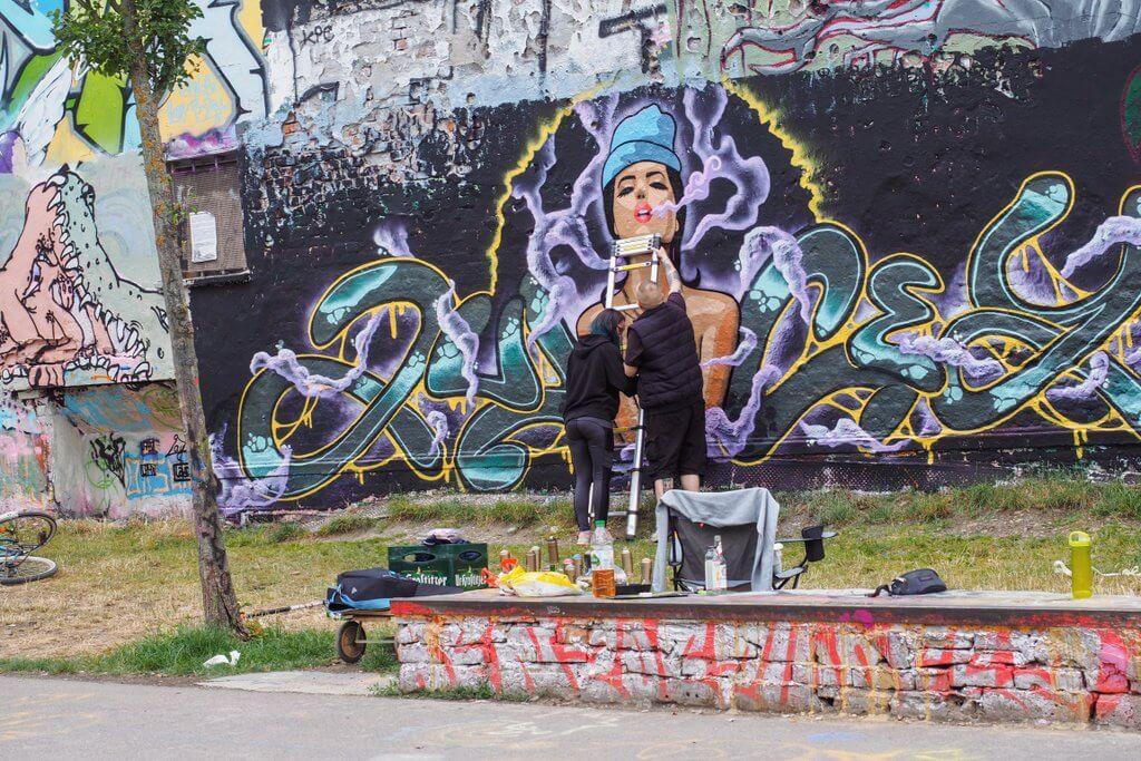 Leipzig Wall of Fame Graffiti