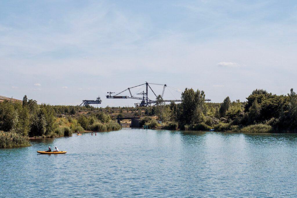 Markkleeberger See Leipzig Schaufelradbagger