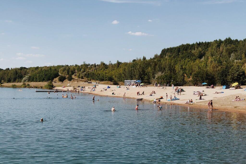 Markkleeberger See Leipzig Strand