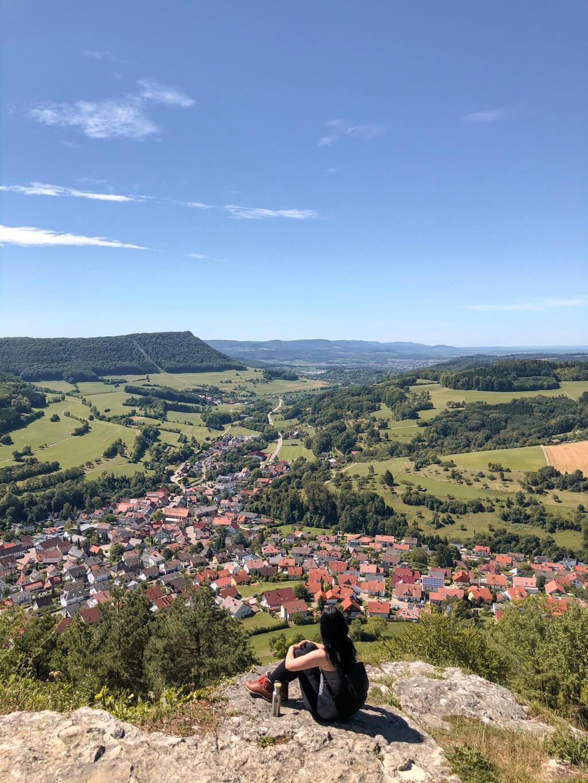 Wandern Kaltes Feld Weg Ostalb