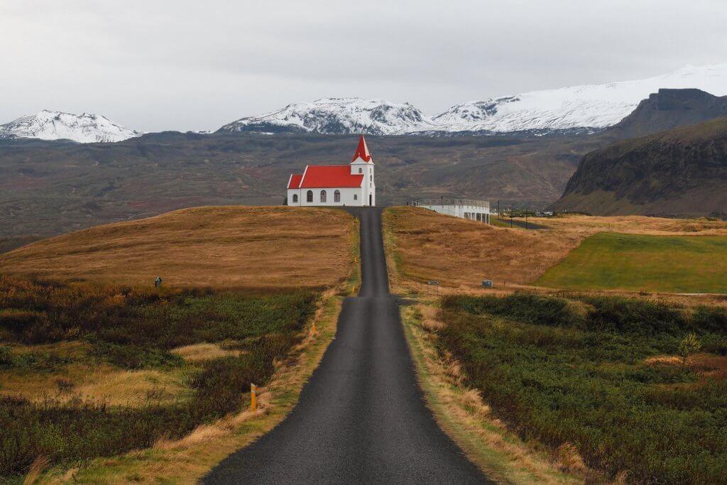 Ingjaldsholskirkja Island Snaefellsnes