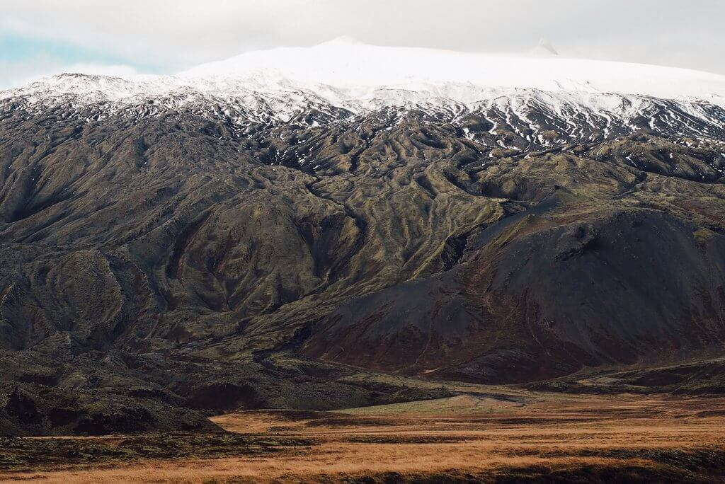 Snaefellsjökull Vulkan Island