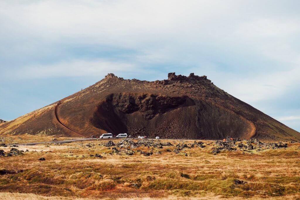 Snaefellsjokull Nationalpark Saxholl Krater