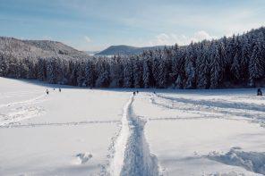 Winterwandern rodeln Schwäbische Alb